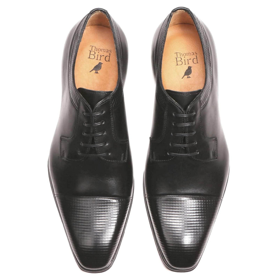 Wholecut shoes - Richmond Cap Toe Derby - Black