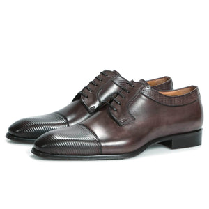 Wholecut shoes - Richmond Cap Toe Derby - Walnut Brown