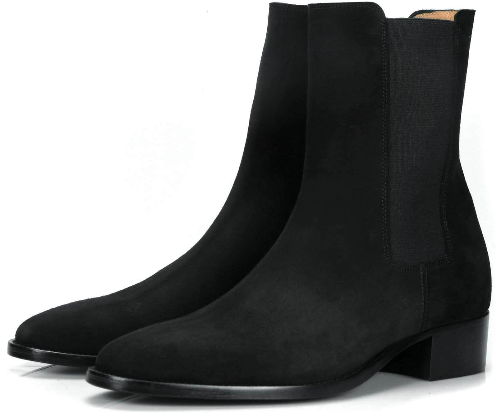 Mens Boots - Fleetwood Chelsea Boot - Black Suede