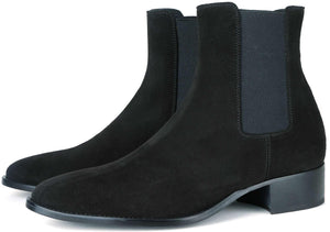 Manhattan Chelsea Boot - Black Suede