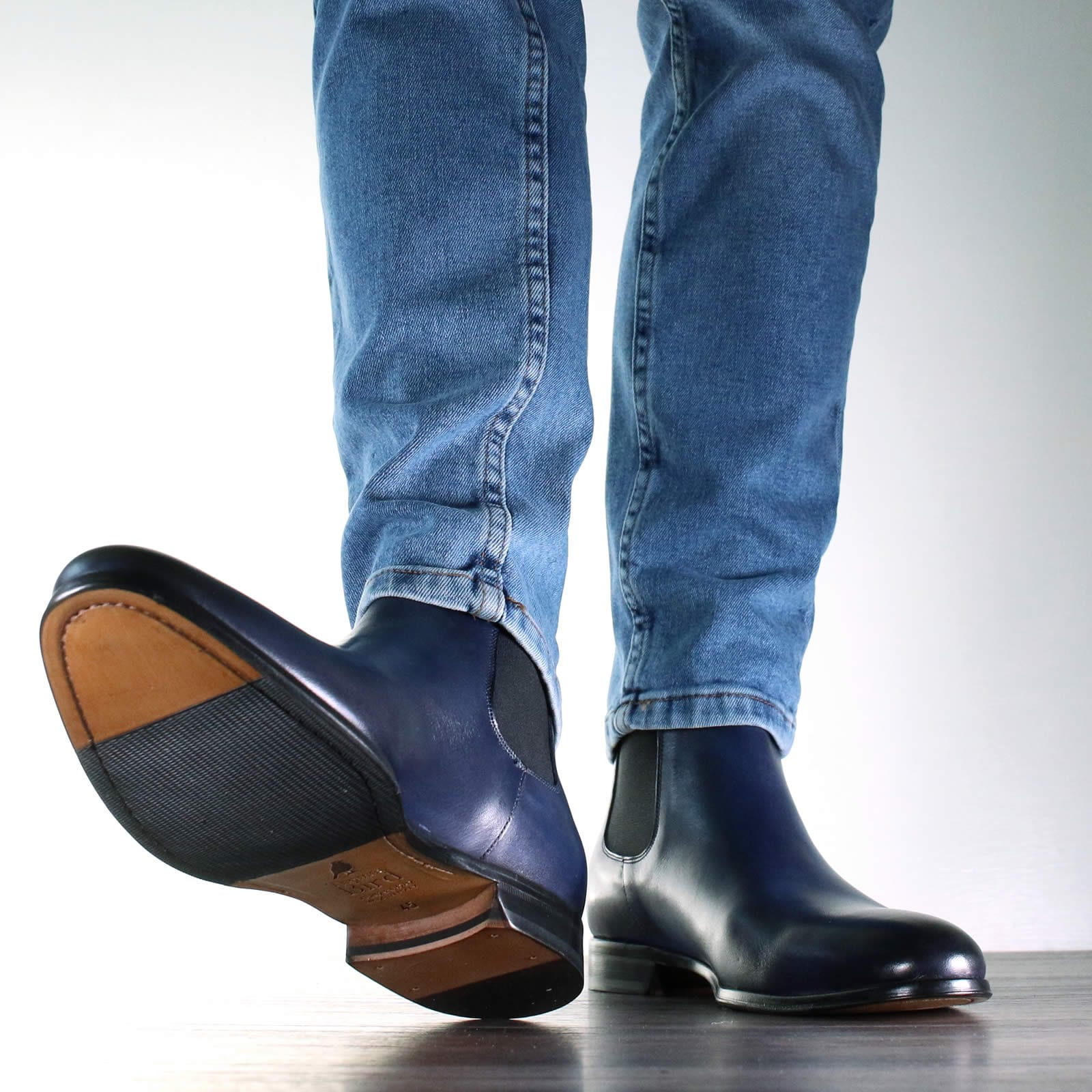 Mens Boots - Eastwood Chelsea Boot - Blue