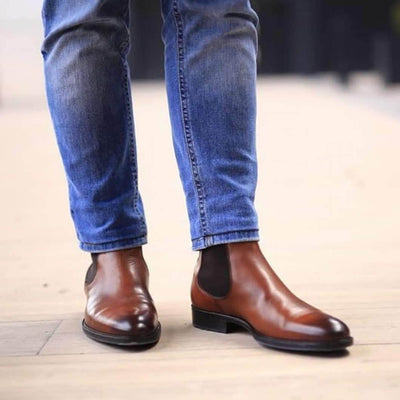 Mens Boots - Eastwood Chelsea Boot R - Chestnut