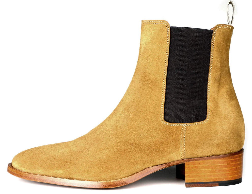 Manhattan Chelsea Boot - Tan Suede