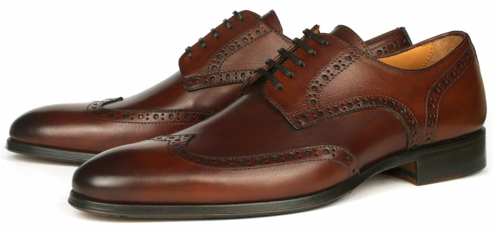 Madison Wingtip Derby Brogue - Brown