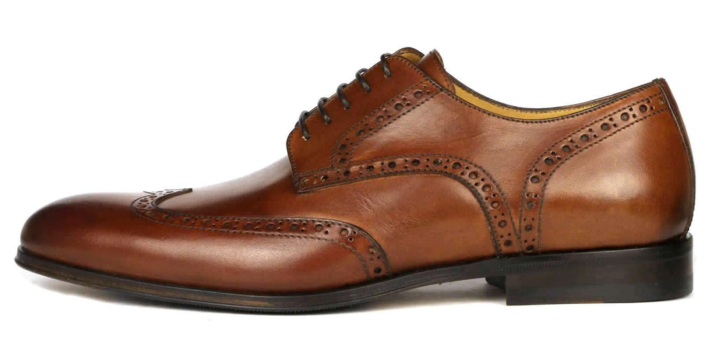 Madison Wingtip Derby Brogue - Chestnut