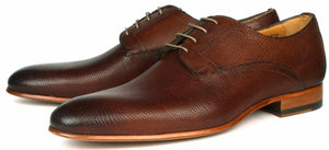 Marlow Snakeskin Derby - Brown