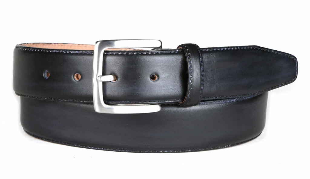 Grey Leather Belt