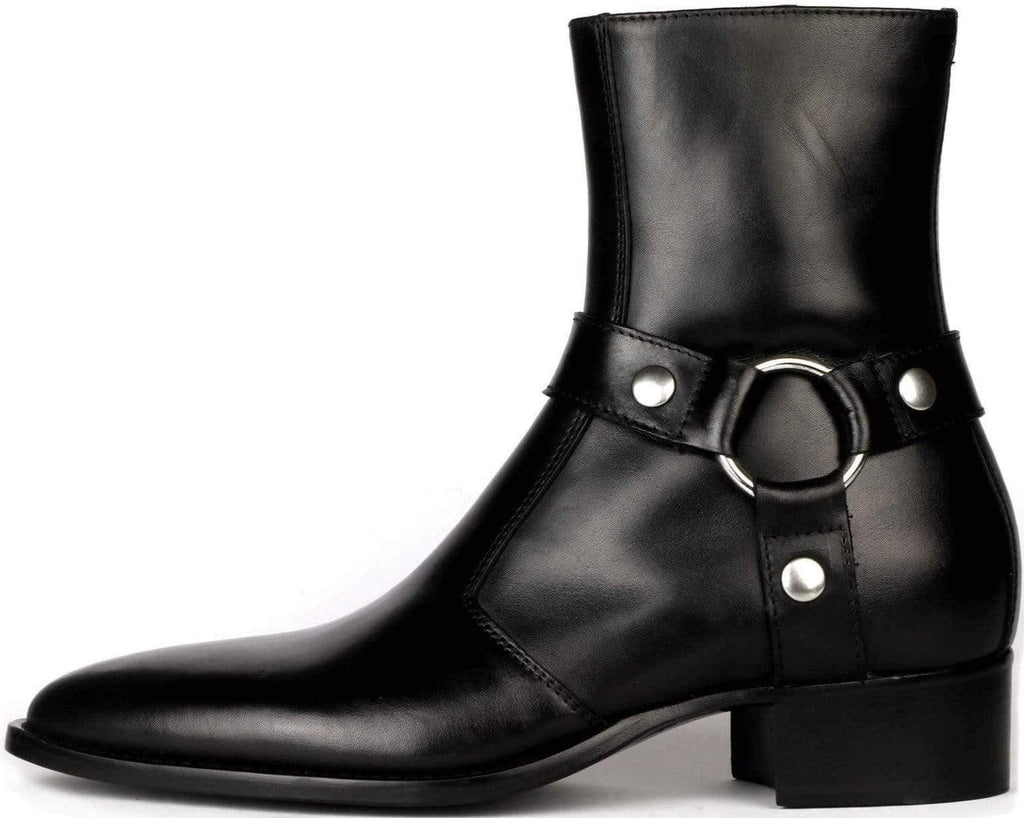 Vincent Harness Zip Boot - Black