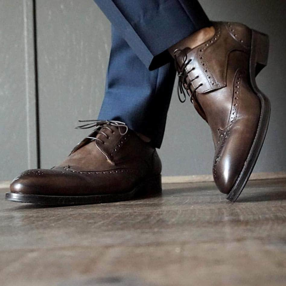 Ashbourne Derby Wingtip Brogue - Brown