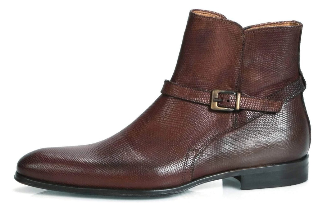 Wholecut shoes - Jackson Jodhpur Zip Boot - Tan Snakeskin