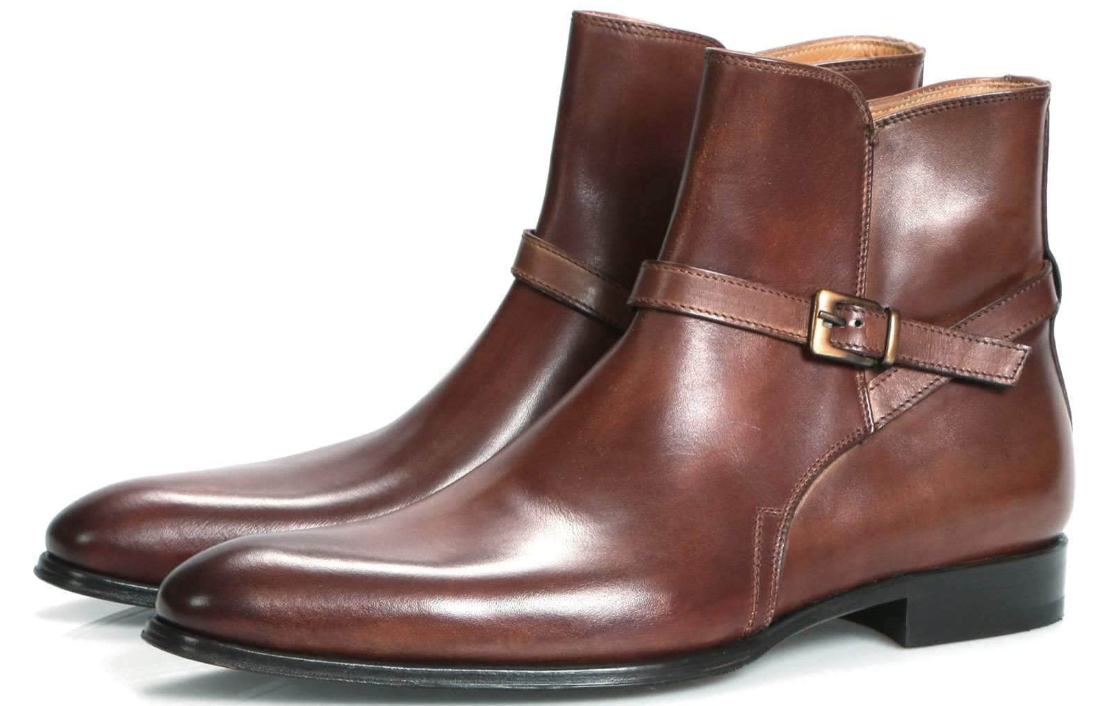 Wholecut shoes - Jackson Jodhpur Zip Boot - Tan