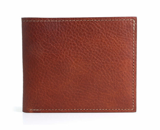 Bifold Leather Wallet Tan
