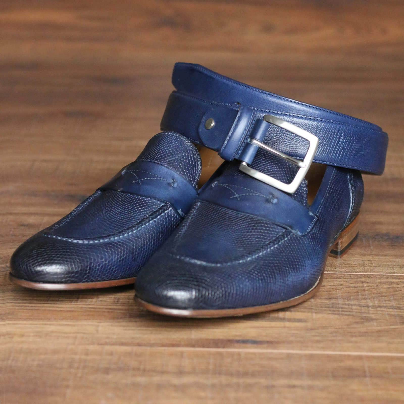 Harrison Loafer - Blue Snakeskin