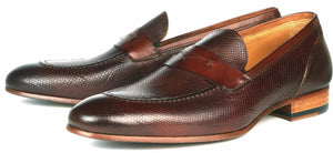 Harrison Loafer - Brown Snakeskin