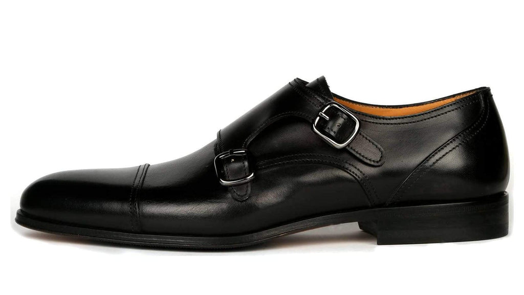 Bourne Double Buckle Monk Strap - Black