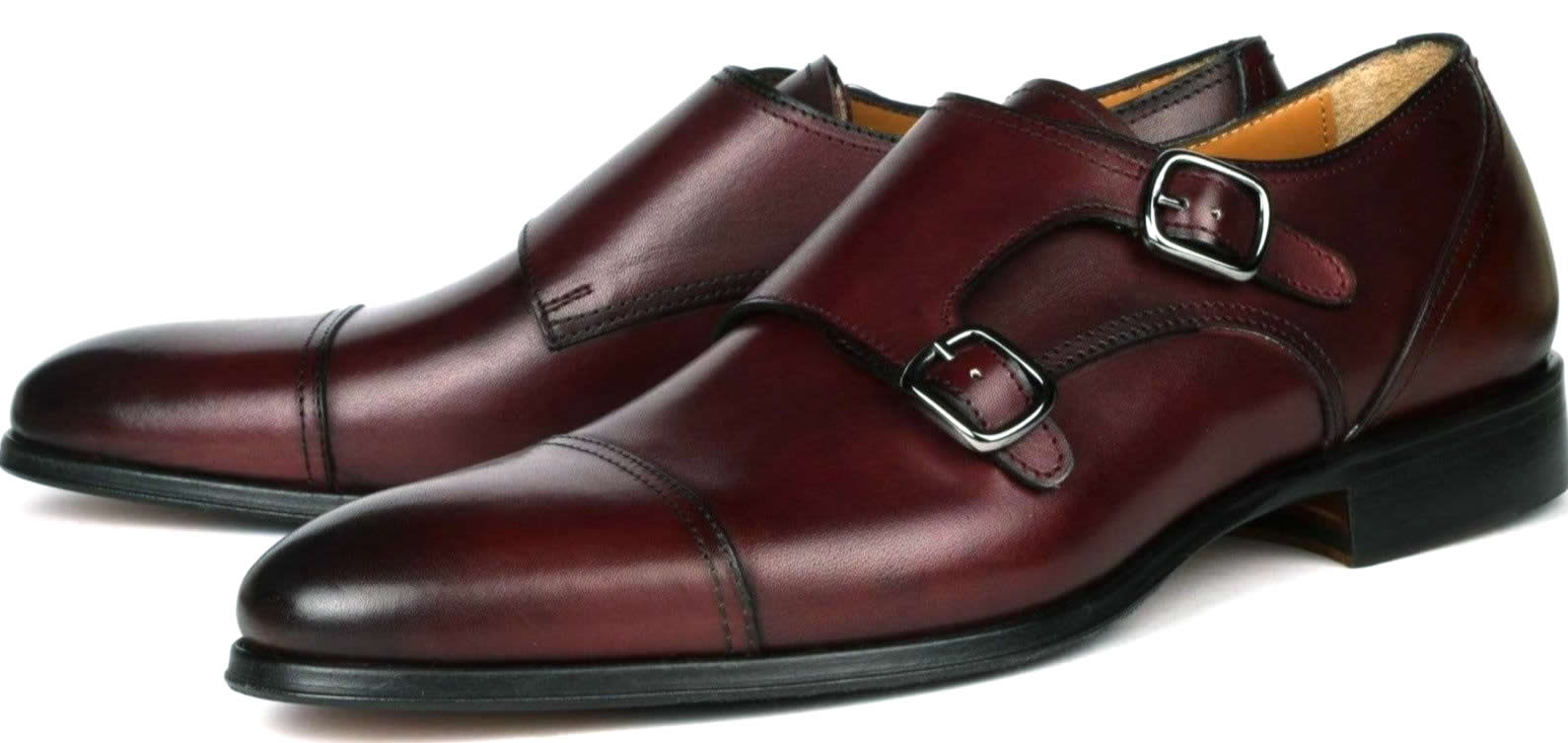 Bourne Monk Strap RS - Oxblood