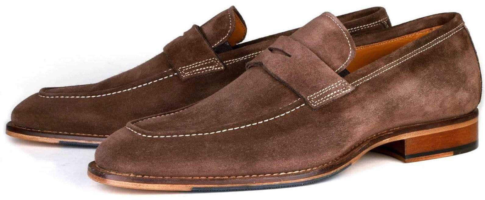 Hampton Penny Loafer - Brown Suede