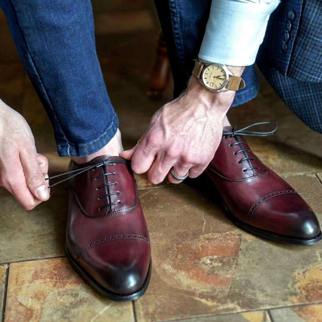 Harrow Cap Toe Oxford - Oxblood