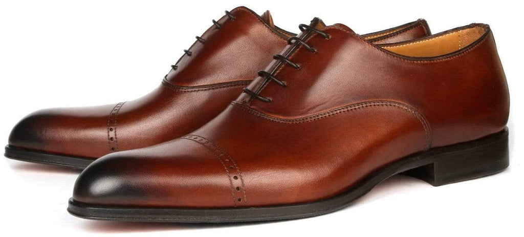 Harrow Cap Toe Oxford - Brown