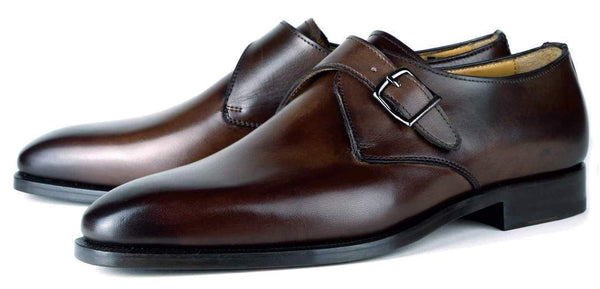 Brooklyn Single Monk Strap - Brown
