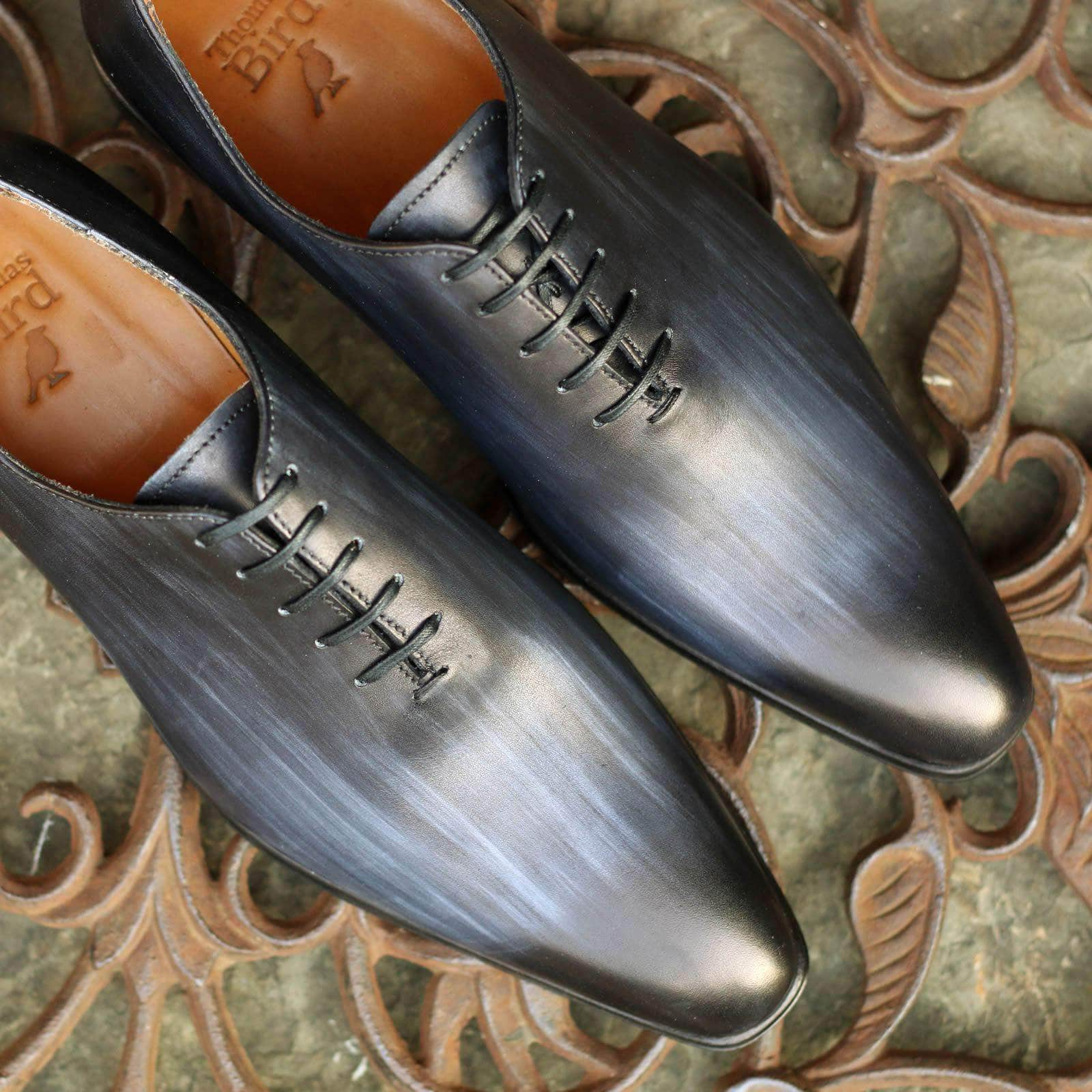 Custom Patina Benson Wholecut Oxford Grey