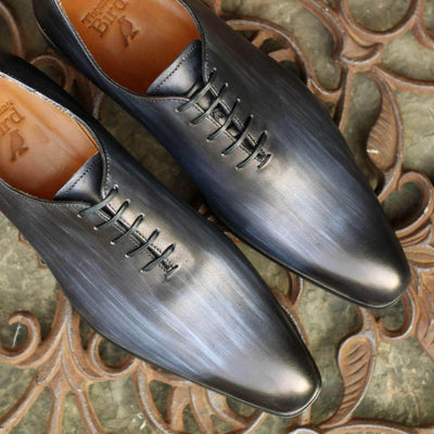 Wholecut shoes - Benson Wholecut Oxford Custom Patina - Grey