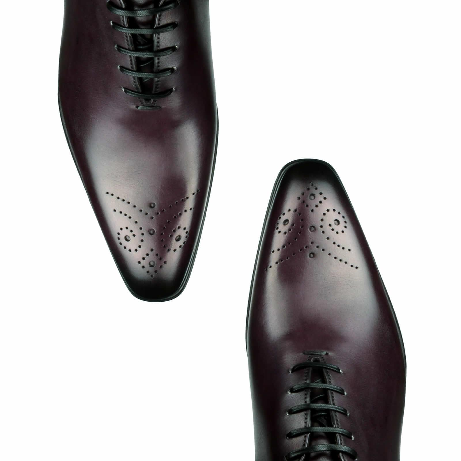 Ellington Wholecut Brogue Aubergine