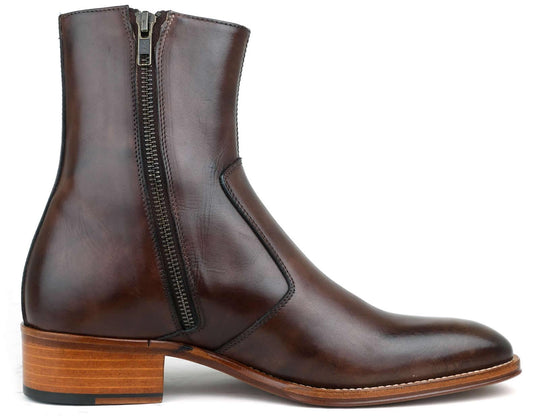 Phoenix Zip Boot - Brown
