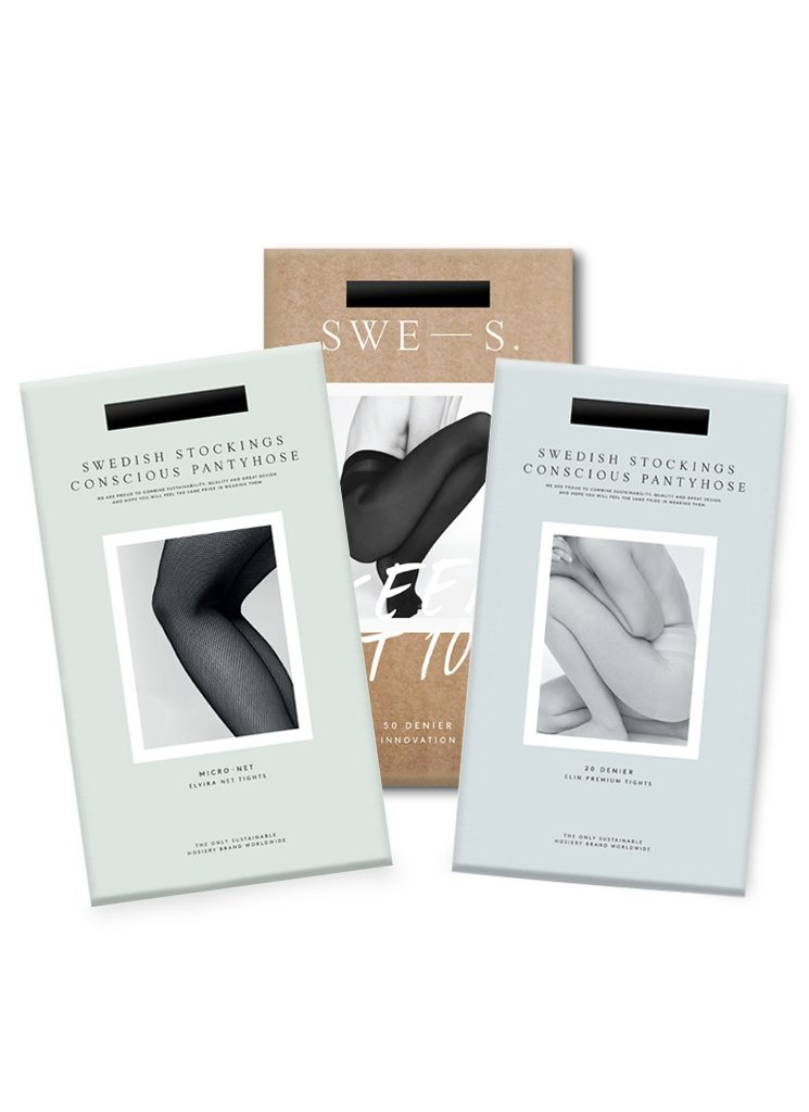 Essentials Set! Elvira Net, Lovisa Innovations & Elin tights Basic Tights Swedish Stockings