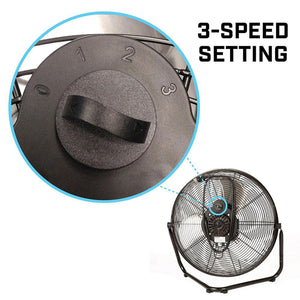 EdenPURE 360 Super Fan 3-speed setting