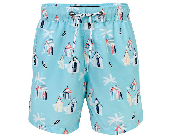 SnapperRock Cabana Palm Bade Shorts