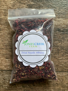 Dried Red Roselle Hibiscus Petals