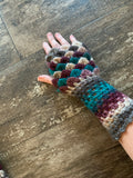 Dragon-Scale Fingerless Gloves