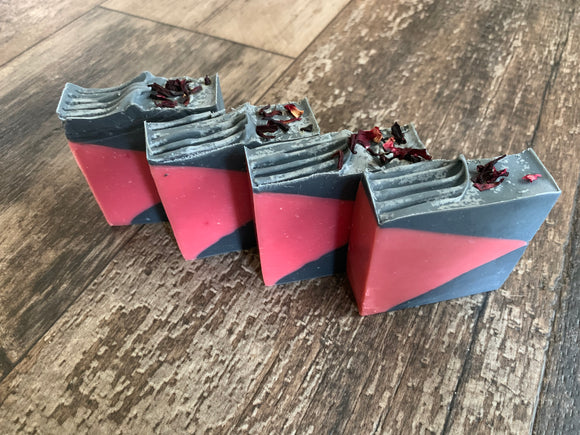 Pomegranate Hibiscus Artisan Hand Crafted Bar Soap