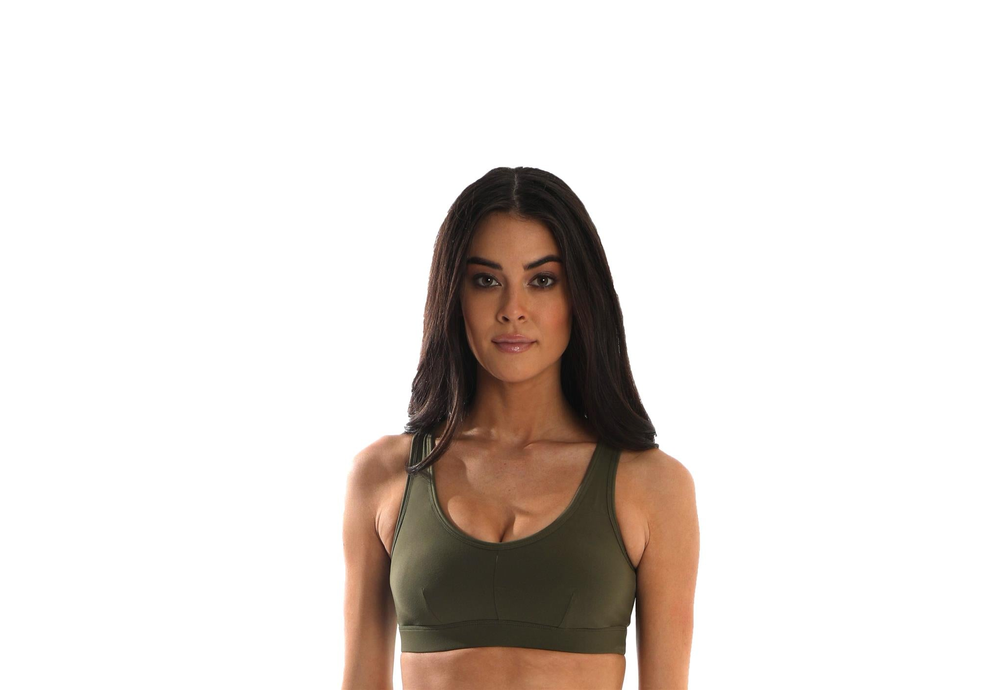 Trendsetter Women's Sports Bra - Army Green