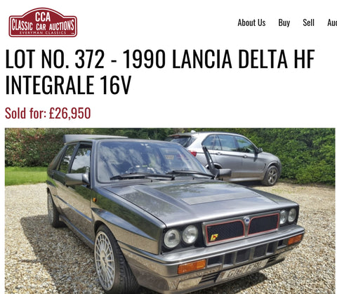 Lancia Delta HF integrale 16V Classic Car Auction Result Page