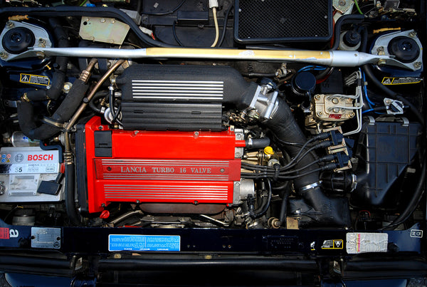 Lancia Delta HF engine bay from an HF integrale EVO2 with 16V catalitic converter Engine