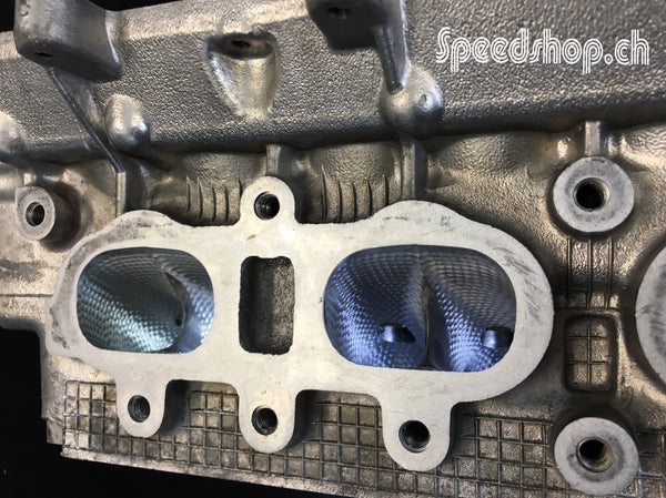 CNC machined Cylinder Head for Lancia Delta HF integrale. Blueprinted and ported flowbench tested for maximum Volumetric Efficiency. Golfball Structure intake port dimpling.