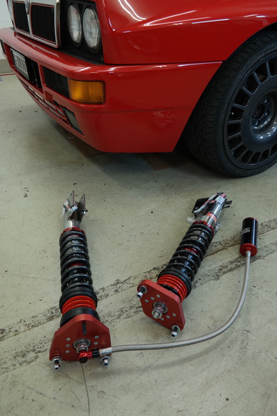 Lancia Delta HF integrale 1K2 ARC intrax suspension, upside down setup, with adjustable compression and rebound knob and unique ARC system