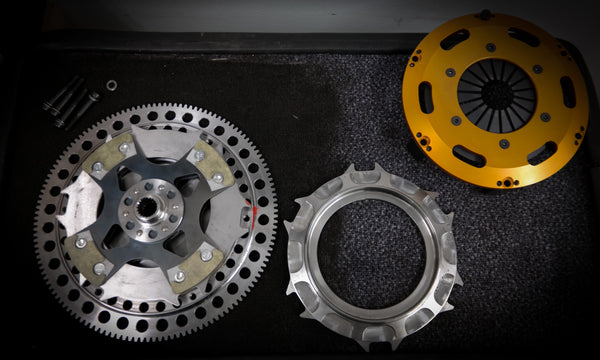 Lancia Delta HF carbon kevlar twin disc clutch kit with flywheel