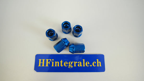 Lancia Delta HF Aluminium Blue Wheel Bolts