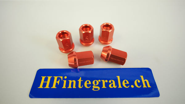 Lancia Delta HF Aluminium red Wheel Bolts