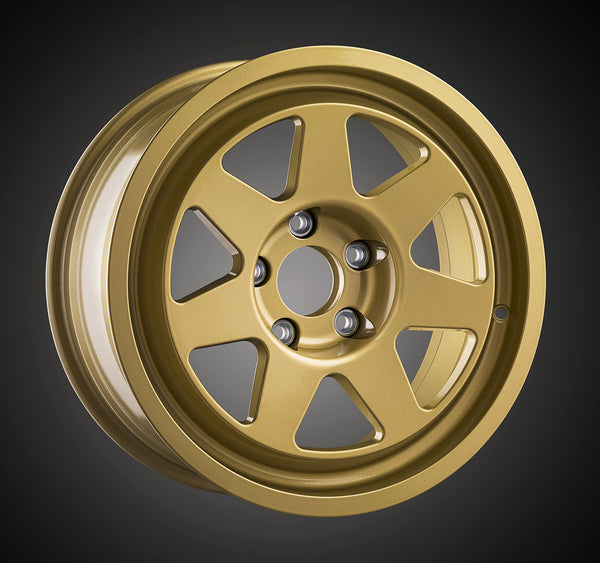 Tecnomagnesio style Rallye Racing cast wheels applications for Lancia Delta HF integrale and BMW M3 E30 gold