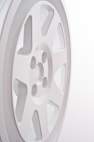 Tecnomagnesio style Rallye Racing cast wheels applications for Lancia Delta HF integrale and BMW M3 E30 white