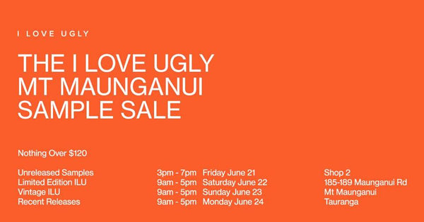 The Mt. Maunganui Sample Sale