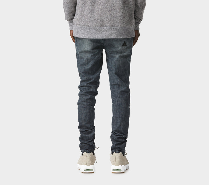 Denim Mid Rise Zespy Pant - Dark Workshop Blue