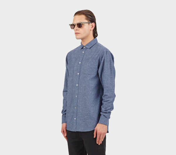 Cutaway Shirt - Blue Ink