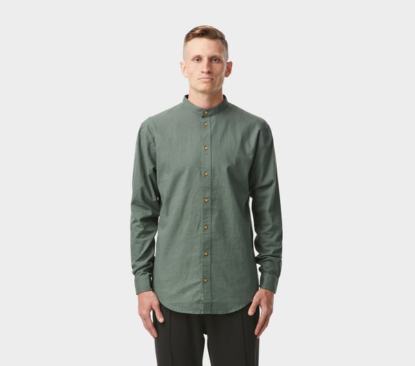 Mandarin Collar Shirt - Royce Green
