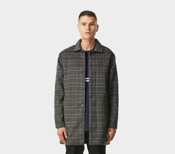 Piazza Coat - Black/Ash Check