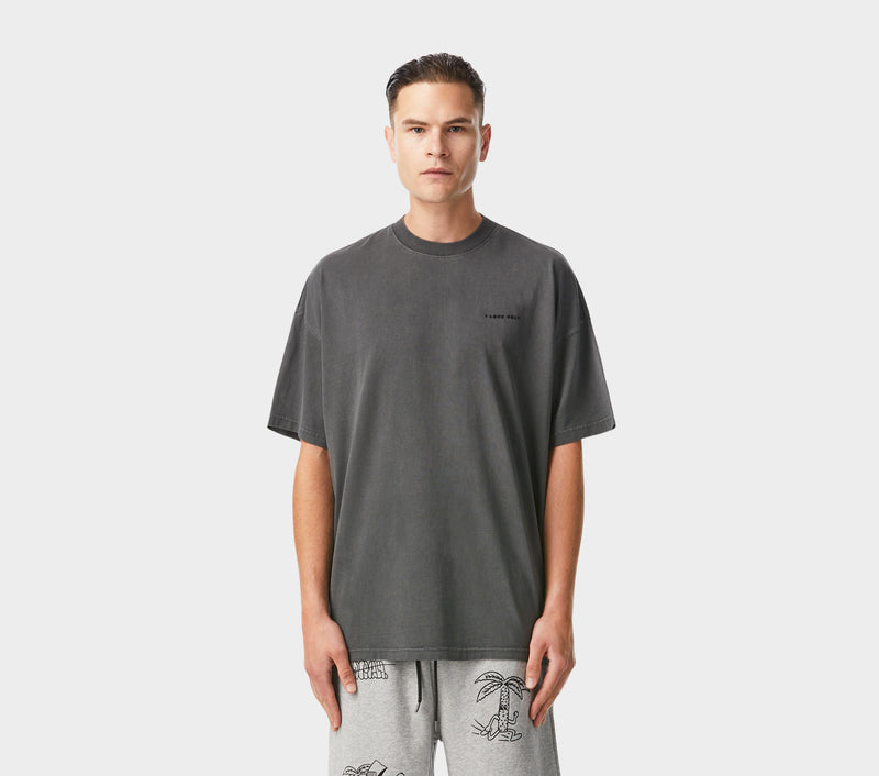 Box Fit Tee - Washed Black